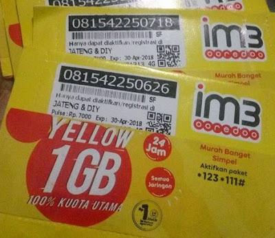 Cara Mendaftar Paket Yellow 1GB Indosat Ooredoo  2018