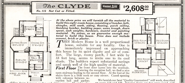 Sears Clyde No. 118 floor plan