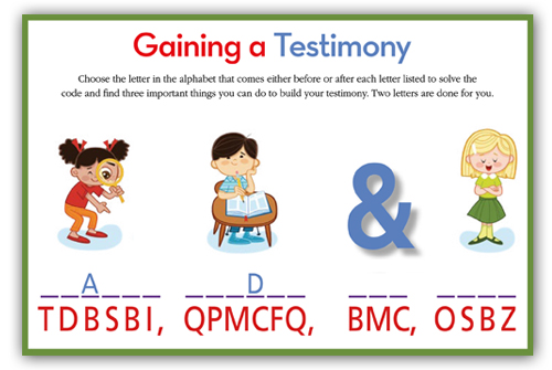 FOR OLDER CHILDREN Testimonies Letter Search From The Friend Magazine