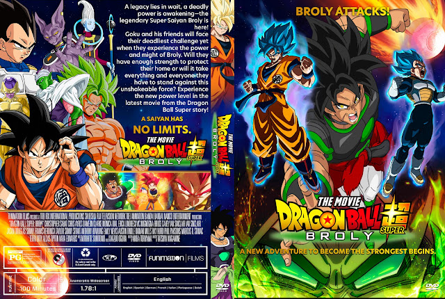 Dragon Ball Super Broly DVD Cover