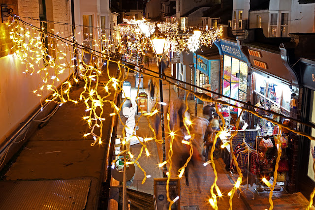 View of Kensington Street, Brighton - Christmas Lights Photo tips and techniques - Ashley Laurence