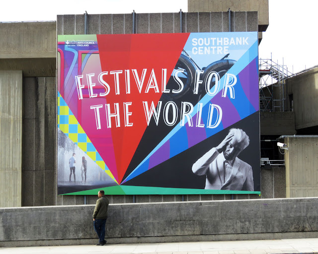Festival of the World ad, Waterloo Bridge, London