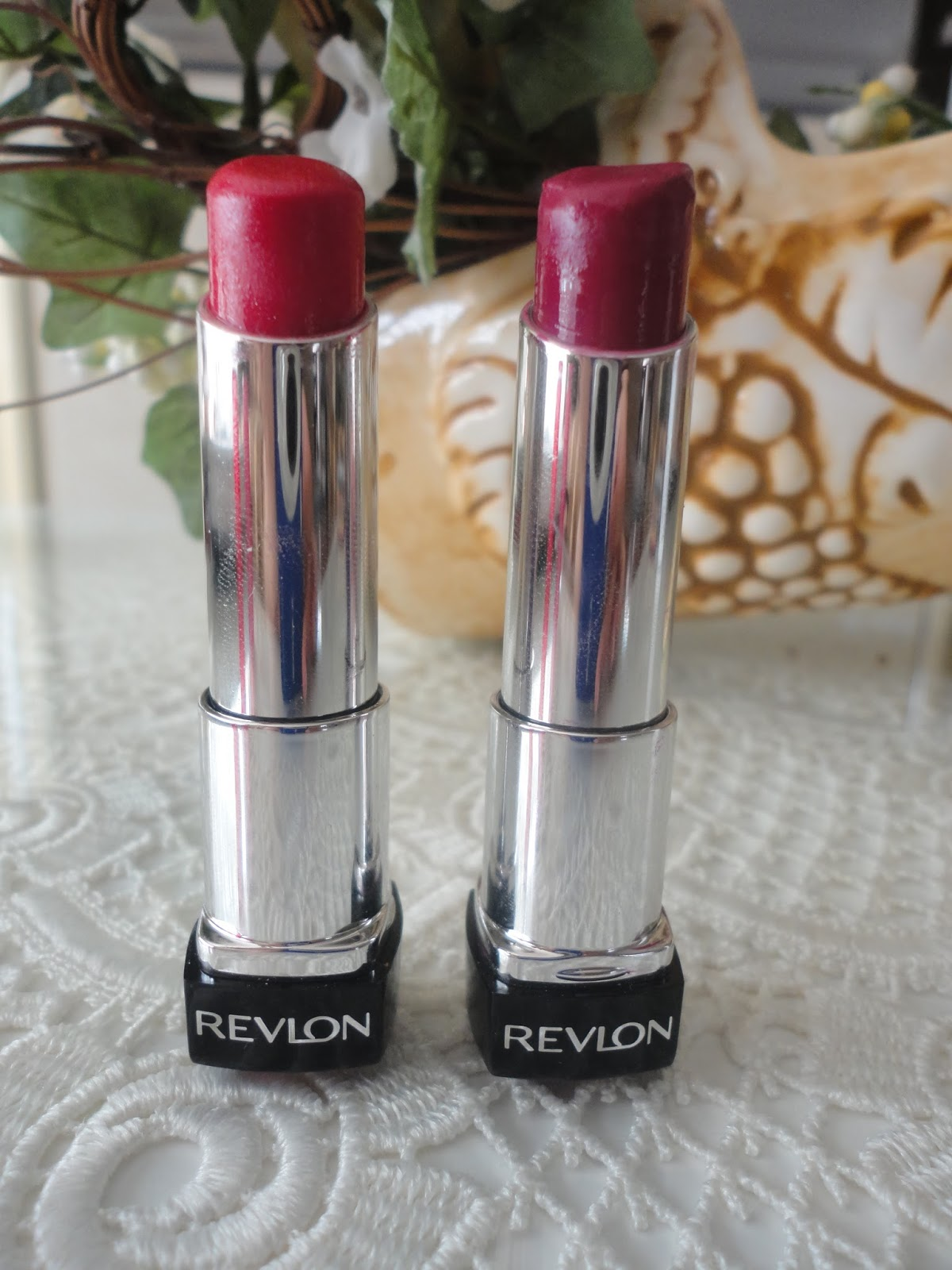 My Go-To Fall Lip Shades Revlon Colorburst Lip Butters in Cherry Tart Raspberry Pie
