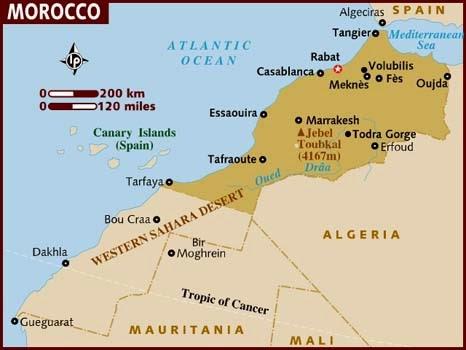 Peta Negara Maroko