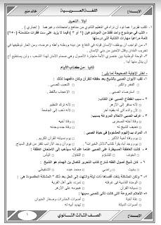 احصل على الدرجة النهائية في اللغه العربيه للصف الثالث الثانوي , ليلة الامتحان ,مذكرة الابداع في اللغه العربيه