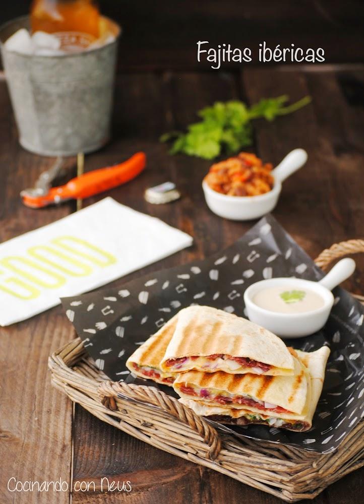 Quesadillas con jamón iberico
