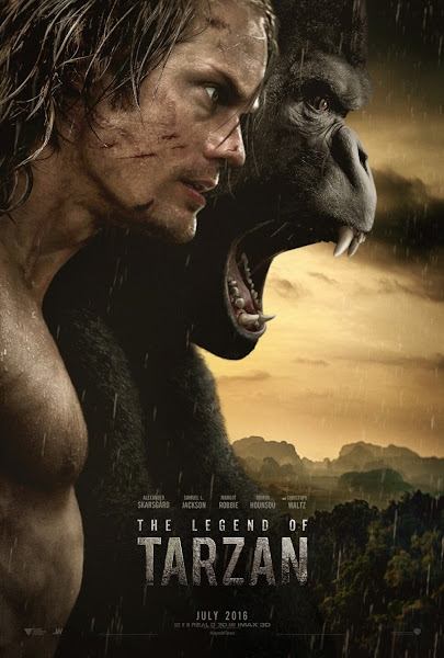 Poster Of The Legend Of Tarzan 2016 720p English BRRip Full Movie Download