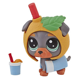 LPS Series 4 Thirsty Pets Rottweiler (#4-153) Pet
