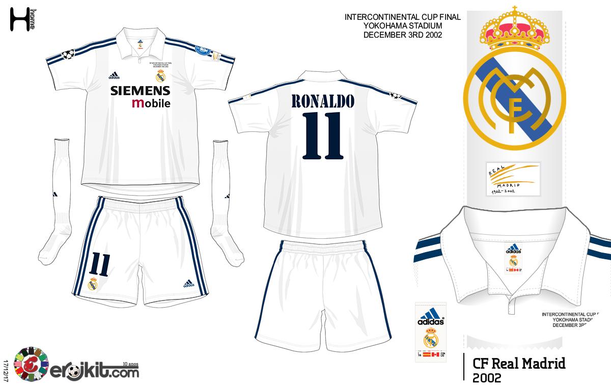 low priced c8e2b 71747 Kit Design, by eroj: 2002-04 Real Madrid Home