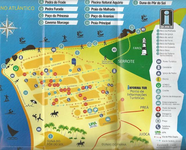 Plan, map, Jericoacoara, Brésil