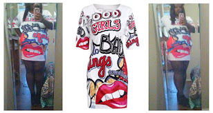 Want This Funny Print T Shirt Dress?