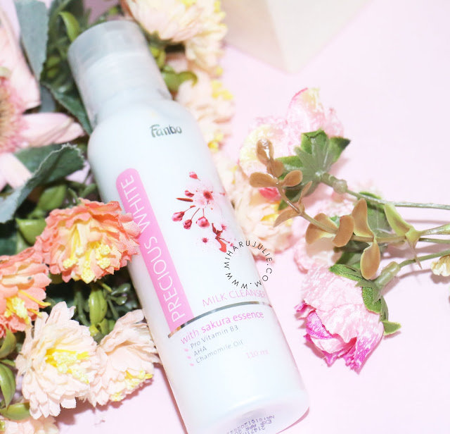 Fanbo Precious White milk cleanser with sakura essence review