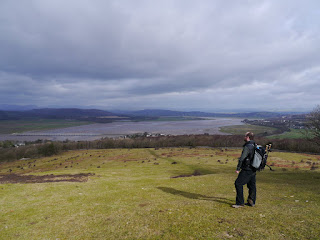 Enjoying the view from Arnside Knott on my first visit to the Arnside and Silverdale AONB