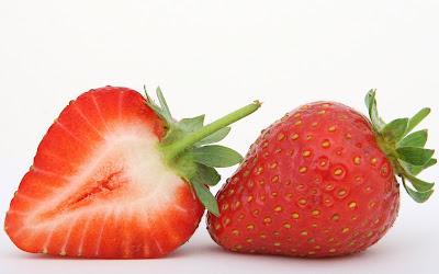 strawberry slice widescreen resolution hd wallpaper