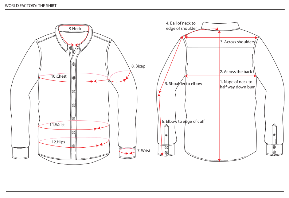 how to measure shirt size man
