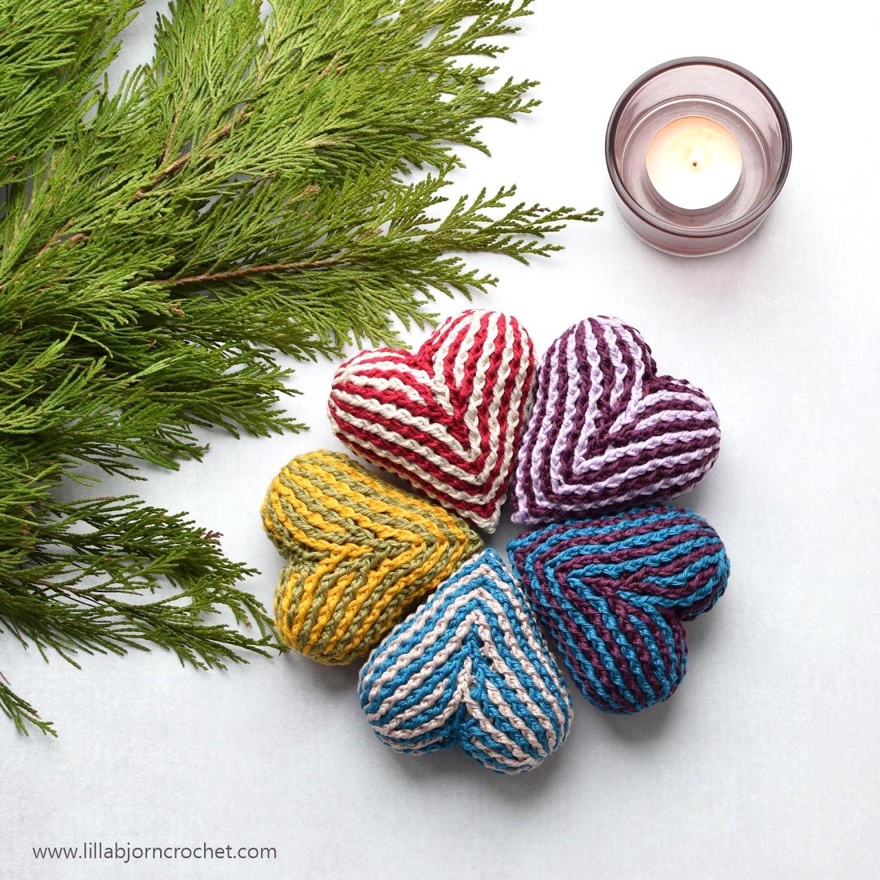 Brioche Heart_free crochet pattern by www.lillabjorncrochet.com