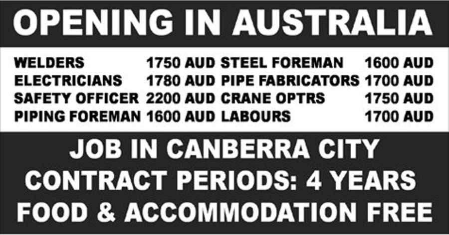 Huge Recruitment to an MNC in Australia | APPLY NOW | All Gulf Vacancy