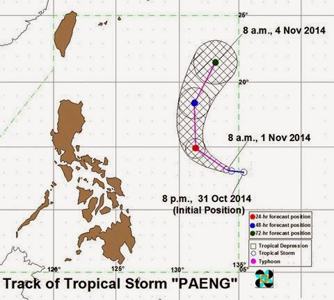 The state weather bureau PAGASA reported that the Tropical Depression spotted outside PAR is now Tropical Storm. Bagyong Paeng has intensified as it continues to move over the Philippine Sea.
