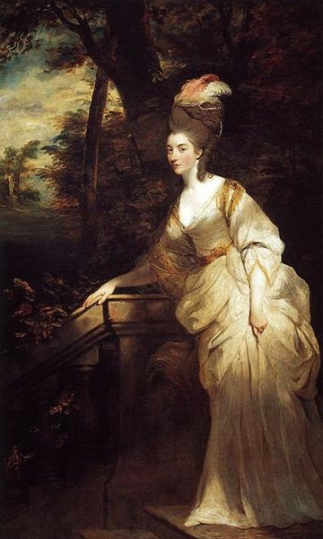 Georgiana, Duchess of Devonshire by Joshua Reynolds,1775-1776