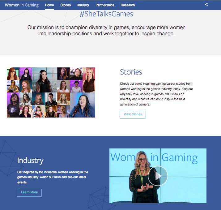 Major Project: women in gaming facebook