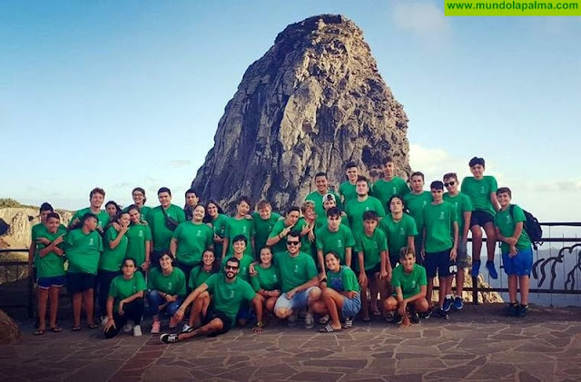 35 jóvenes de Puntallana pasan un fin de semana de convivencia en La Gomera