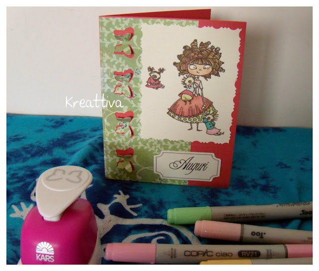 Card d'auguri con farfalline 3d