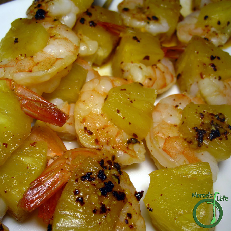 Morsels of Life - Pineapple Shrimp Kabobs - Try these pineapple shrimp kabobs - shrimp and sweet pineapple balanced with just a bit of spice.