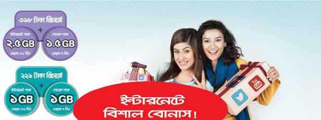 airtel internet bonus, airtel bd