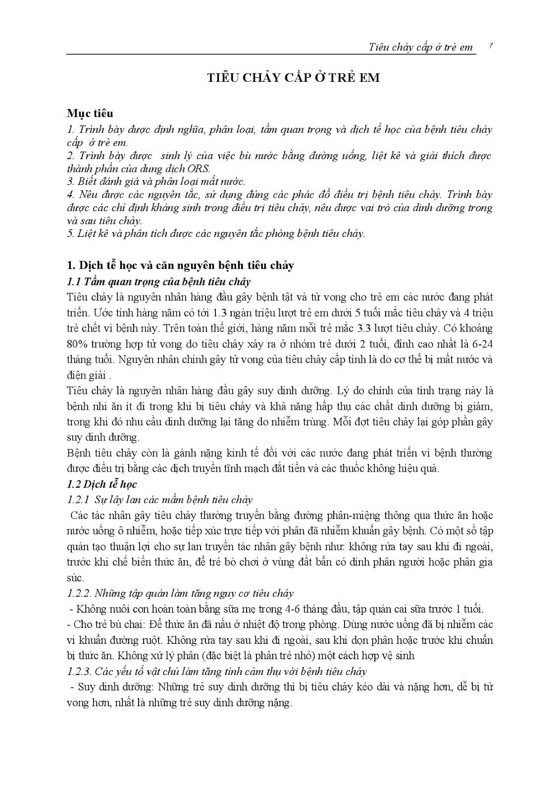 Trang 8 sach Bài giảng Nhi khoa II (Nhi hô hấp - Nhi tiêu hóa - Nhi lây) - ĐH Y Huế