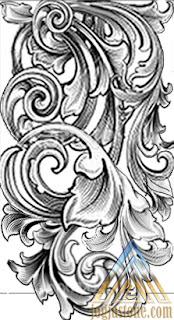 sketsa gambar Pilar tempel untuk batu alam paras jogja/ batu paras putih
