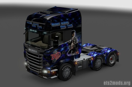 Michael Jackson Show Truck Skin and Trailer