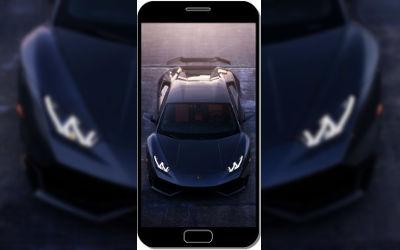 Lamborghini Aventador Black Night Voiture Sportive - Fond d'Écran en QHD pour Mobile