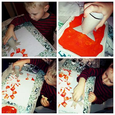 Kreatywne wykorzystanie rolek po papierze toaletowym. Kwiatki i ośmiornica.