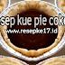 Resep Kue Pie coklat. Enak Mengugah selera