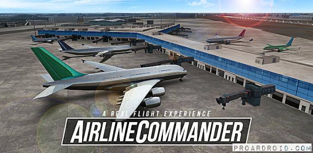 لعبة Airline Commander v1.1.5 نسخة كاملة للاندرويد (اخر تحديث) logo