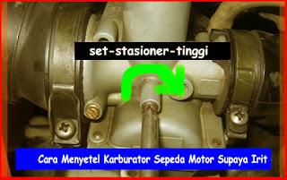 Cara Menyetel Karburator Sepeda Motor Supaya Irit