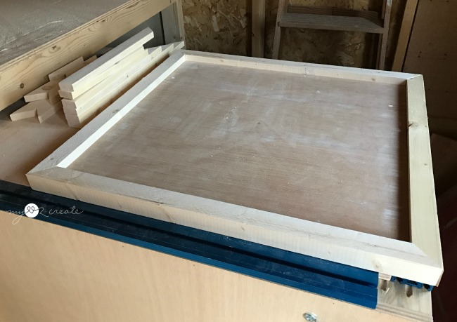 framing out plywood with 2x2 boards