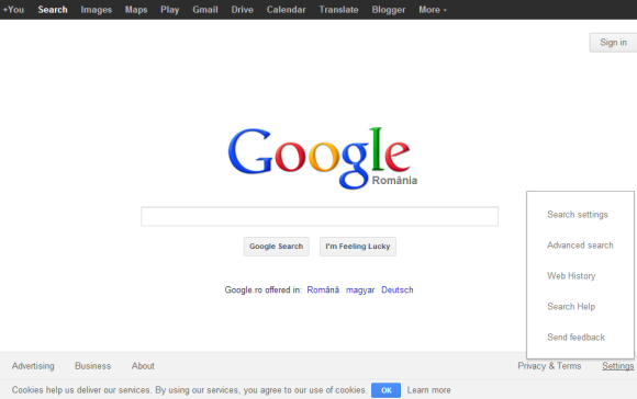 Google Tests a New Homepage Footer