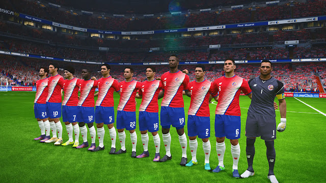 PES 2017 New Costa Rica Kit 2016/2017 by asmo111