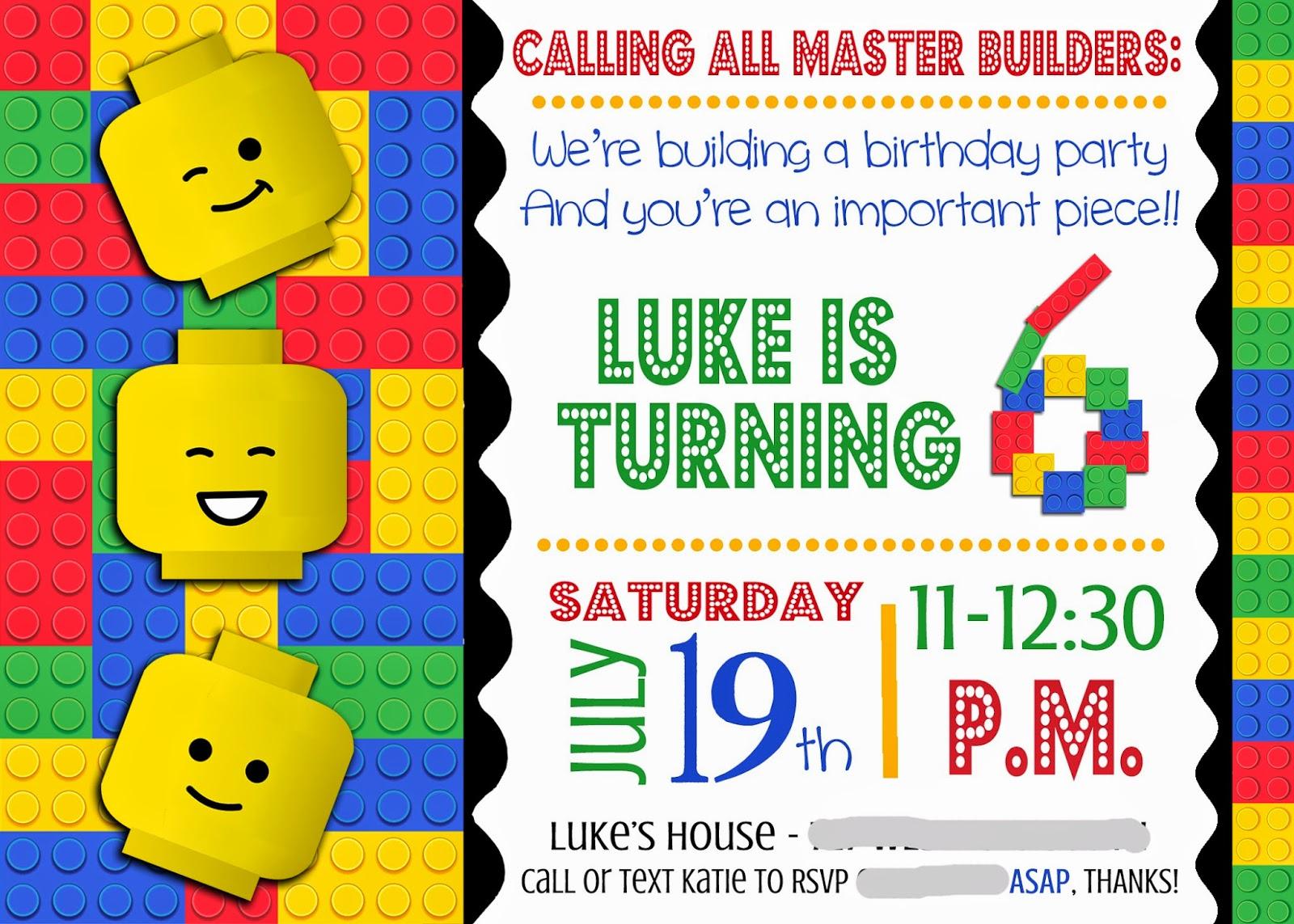 Construction Birthday Invitation Template Editable