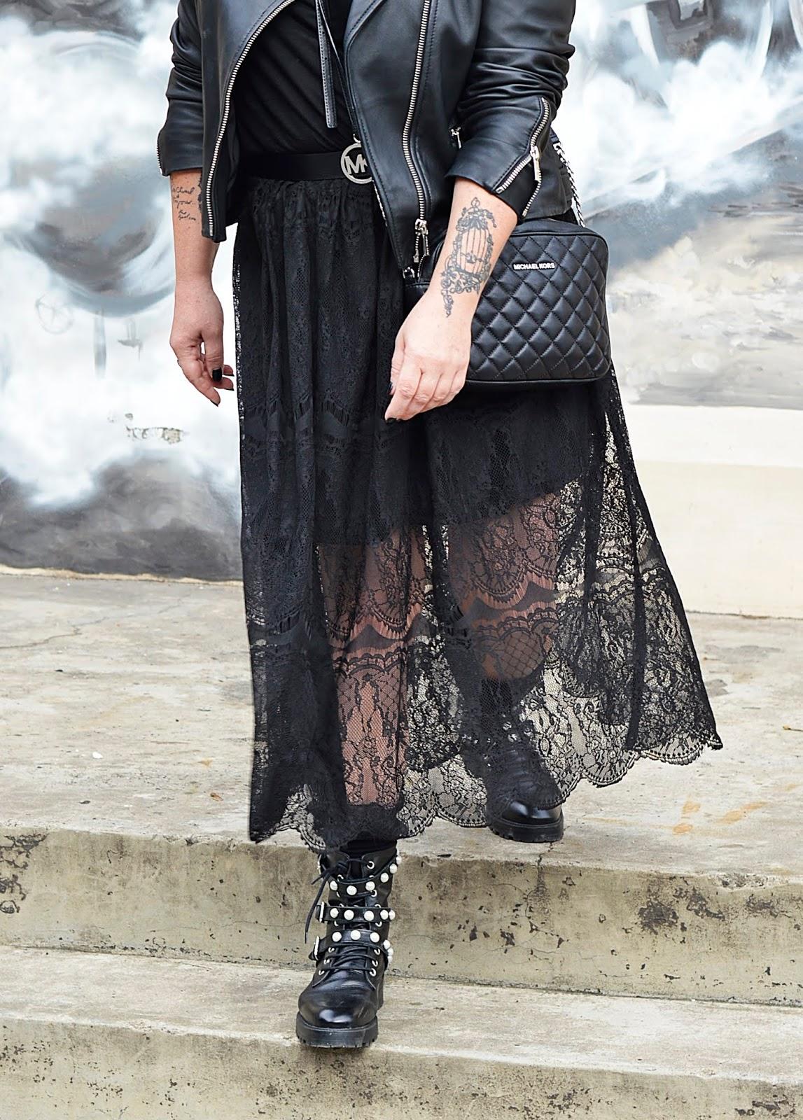 Black rock style, black fashio, black lover