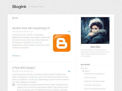 BlogInk Free Blogger Template