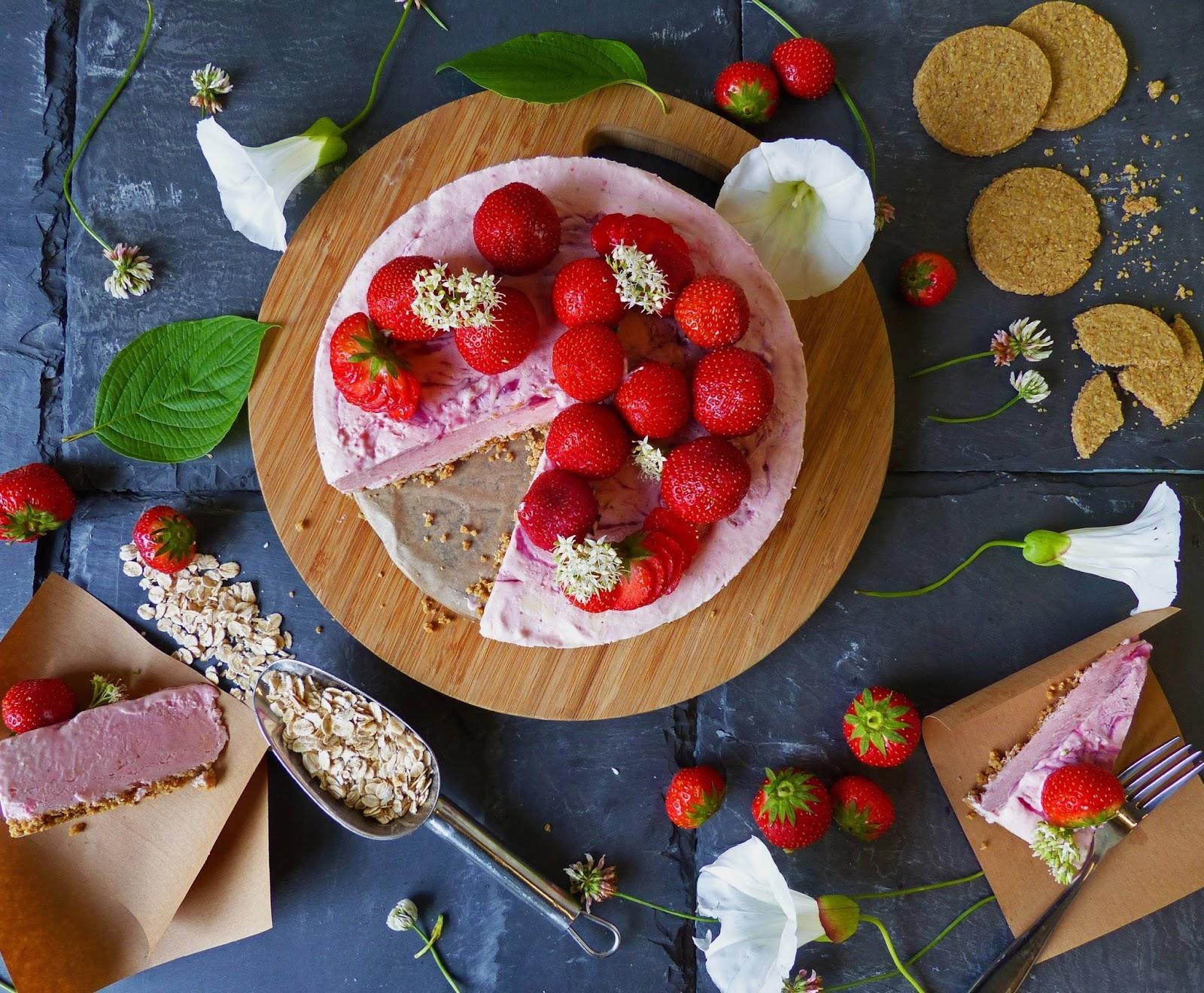 How To Make Oatcake Strawberry Cheesecake