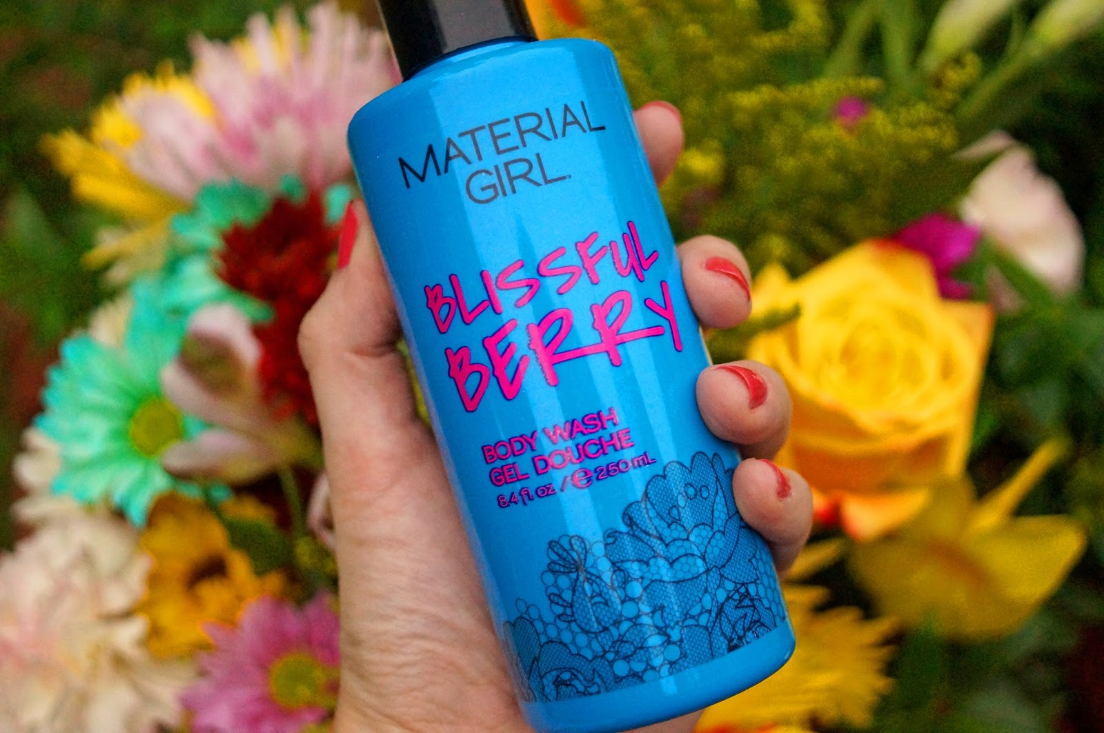 This Body Wash by Material Girl smells like flowers!!