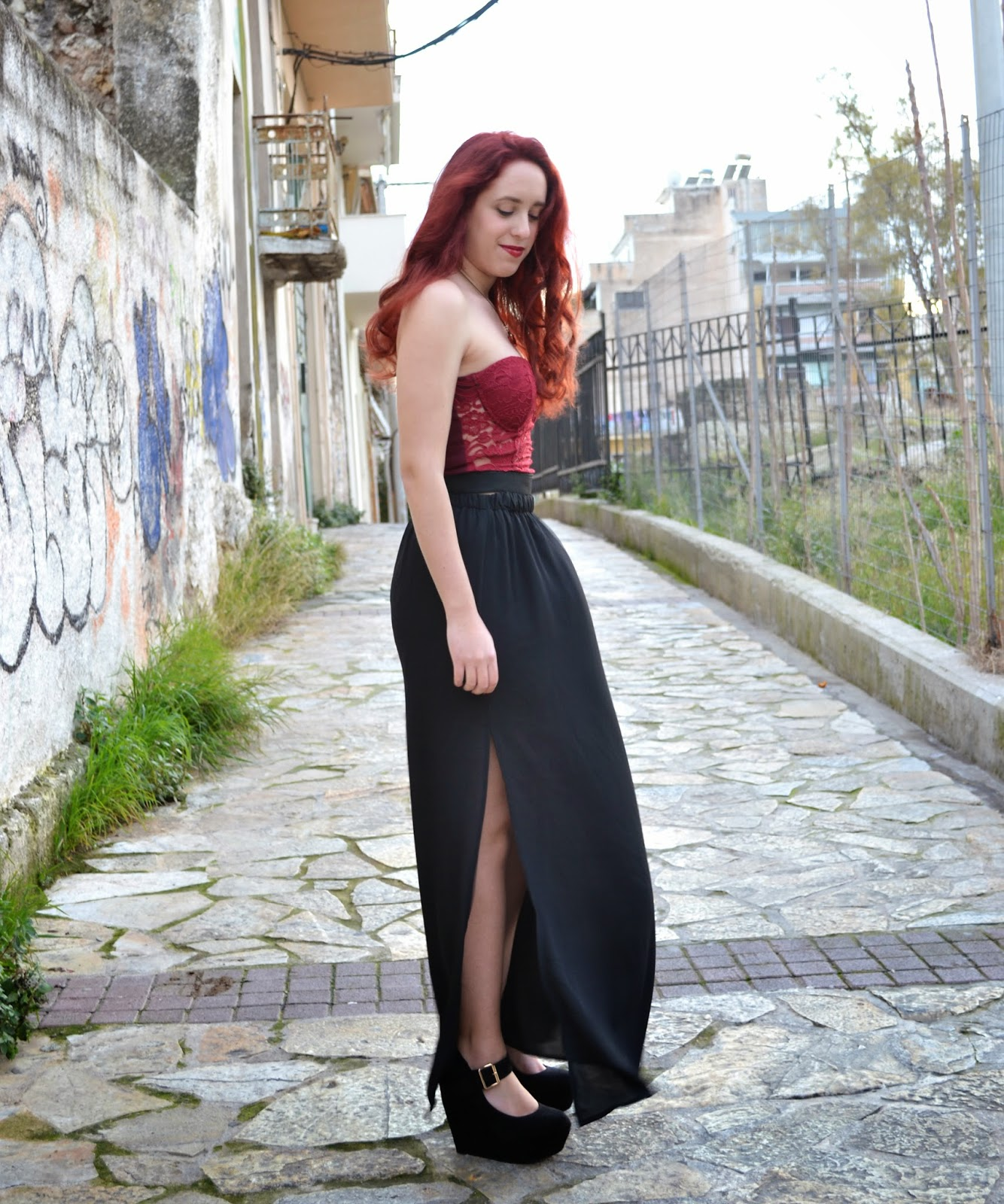 Anna ,Keni,redhead, spotlights on the redhead,fashion,model,blogger, BSB, migato, clothes, outfit, valentine's day,night,