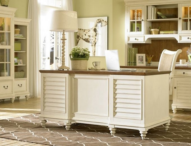 best buy Christopher Lowell white office furniture sets for sale