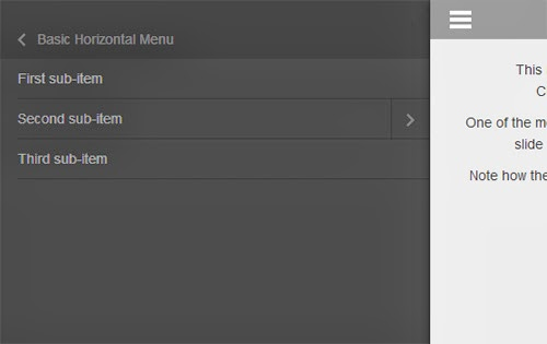 membuat menu responsive di versi mobile... JQuery.Mmenu adalah software membuat menu slide di versi mobile... cara membuat tampilan mobile dengan JQuery.Mmenu.