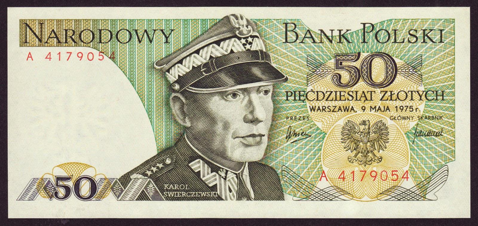 Poland Banknotes 50 Zloty banknote 1975 Karol Swierczewski
