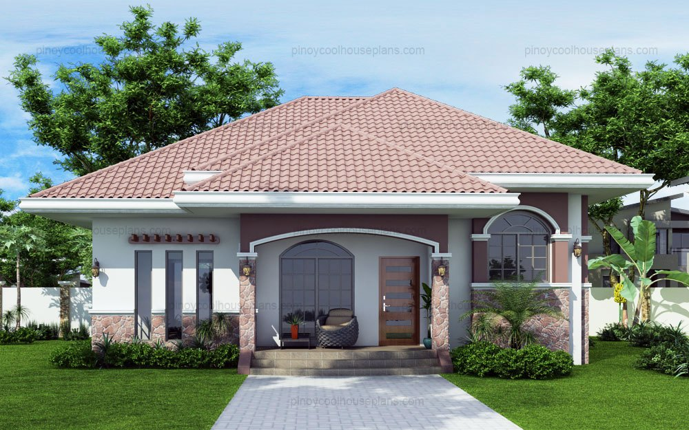 10 bungalow single story modern house with floor plans for Bungalow houses designs philippines images