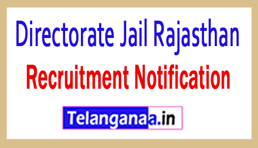 Directorate Jail Rajasthan Recruitment